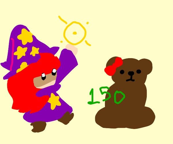 Ms. bear gets healed by Magic healer