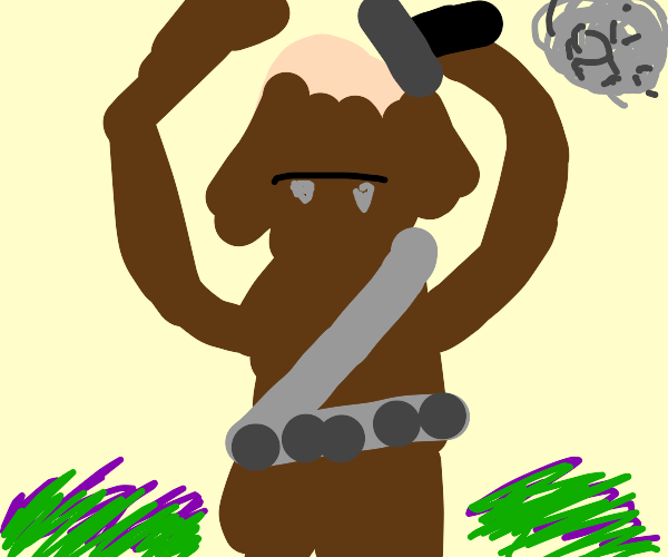 Chewbacca shaves his head