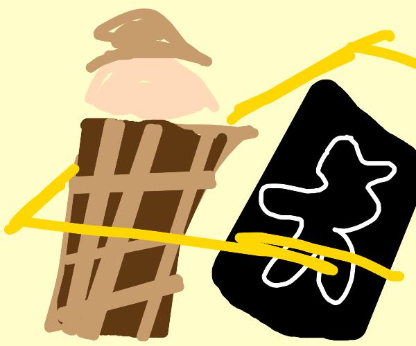 Detective's crime scene