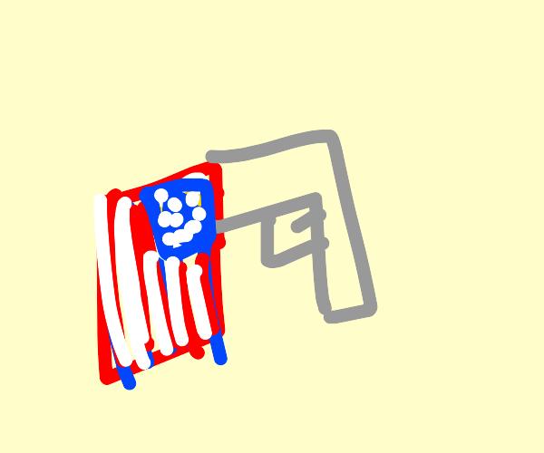 Gun and America Pants