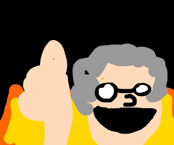 Grandmother enjoying Hell
