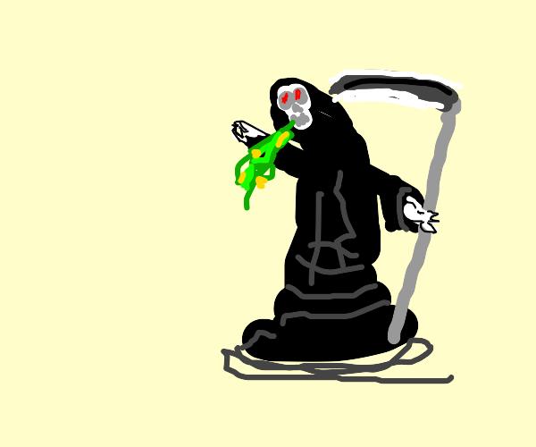 Grim Reaper Barfing