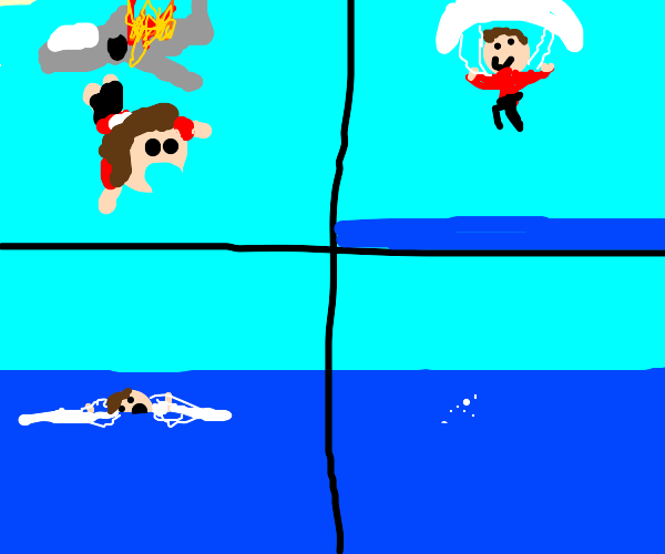 Parachute Murder (by drowning)