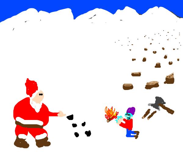 Santa brought you coal for Christmas :D