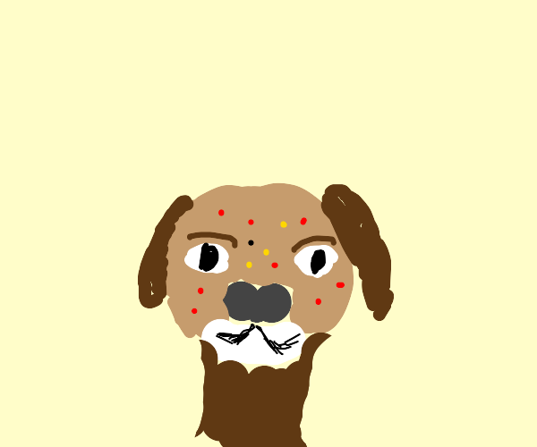 dog with acne