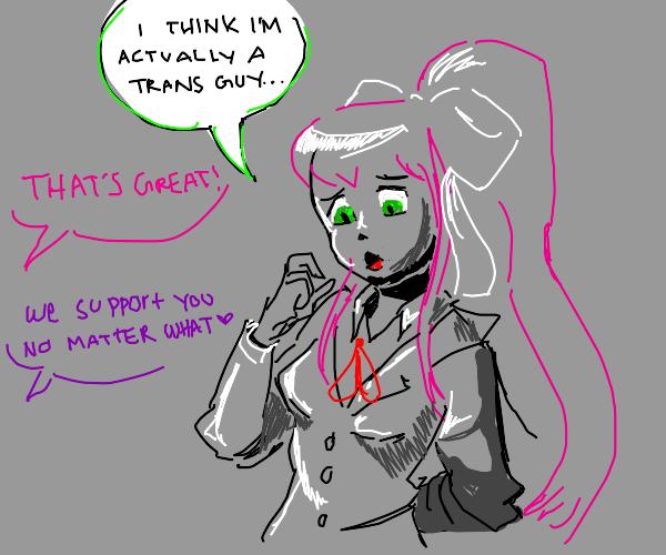 Monika (ddlc) is secretly a man