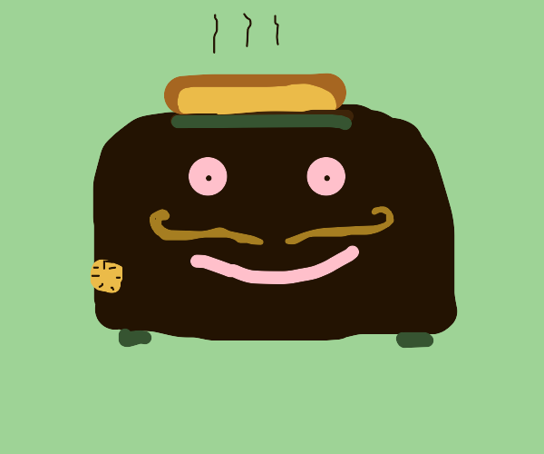 British toaster with mustache