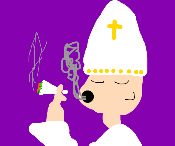 A cool pope, 420 friendly