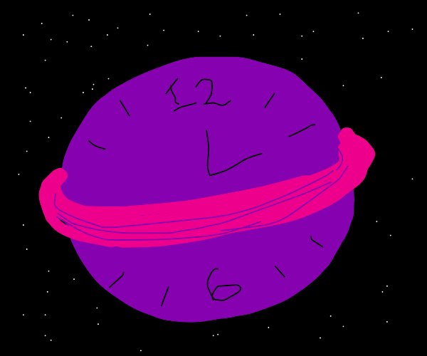 Clock on Saturn