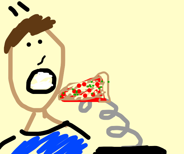 Eating Pizza with a Spring