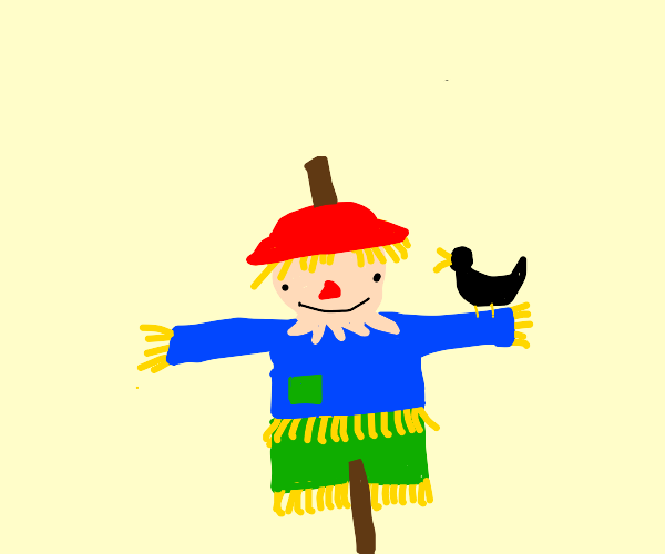 Just a scarecrow