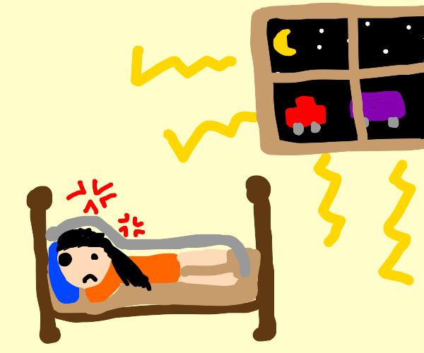 traffic noise makes it hard to sleep