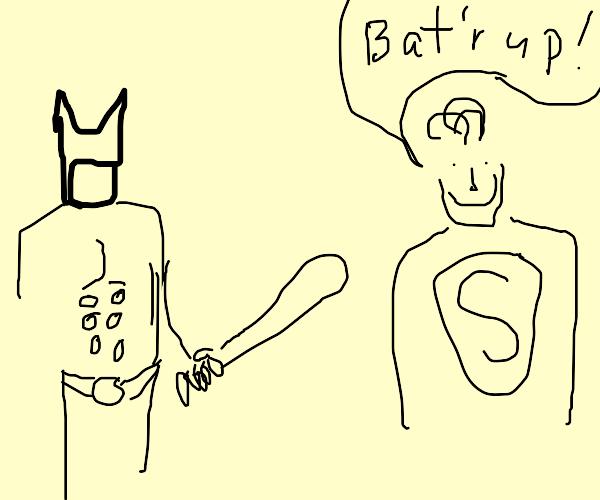 Batman bats Superman