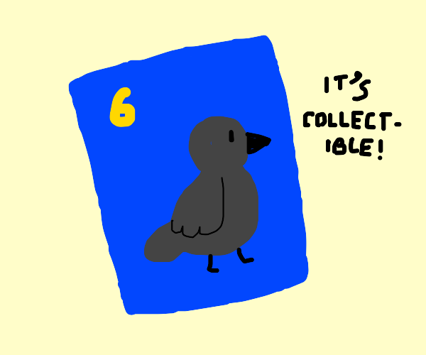 The number six crow card