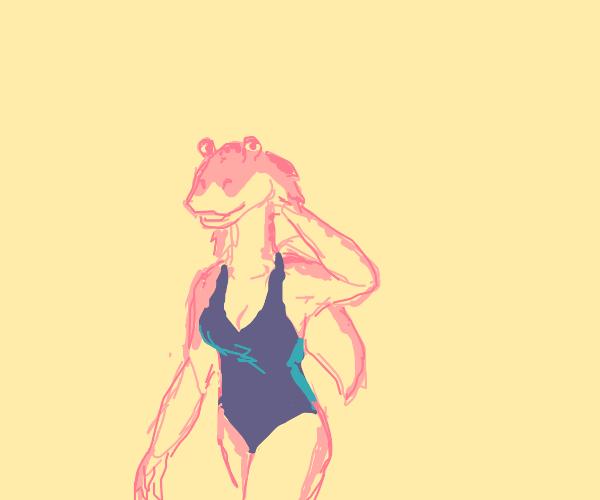 Female Jar Jar Binks in women swimwear