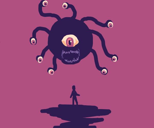 A D&D Beholder stares you down