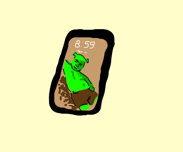 sexy shrek picture on the phone