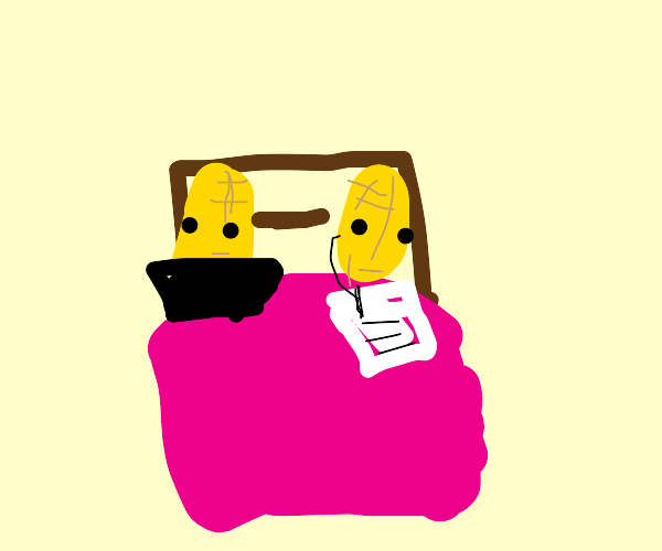 2 Corn on the cob getting busy in bed
