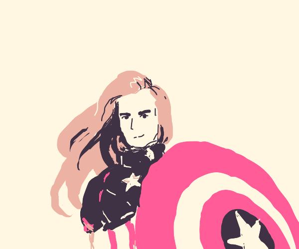 Long blonde hair Captain America