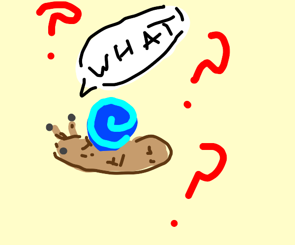 Very confused Snail