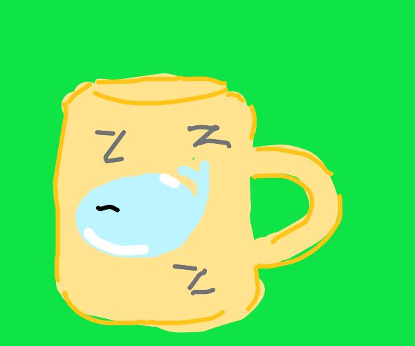 sleeping whale mug