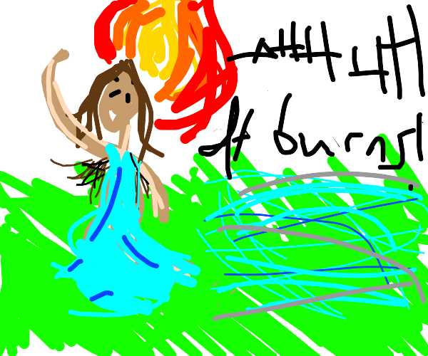 Hairy aimpit girl is on fire