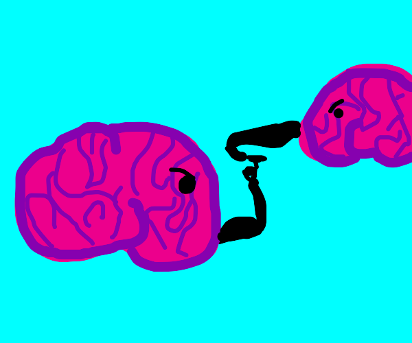 Brains Arm Wrestling (the irony)