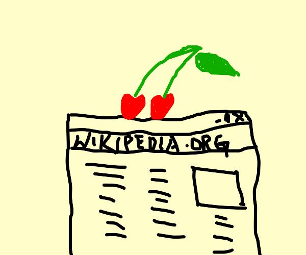 Cherry on Wikipedia