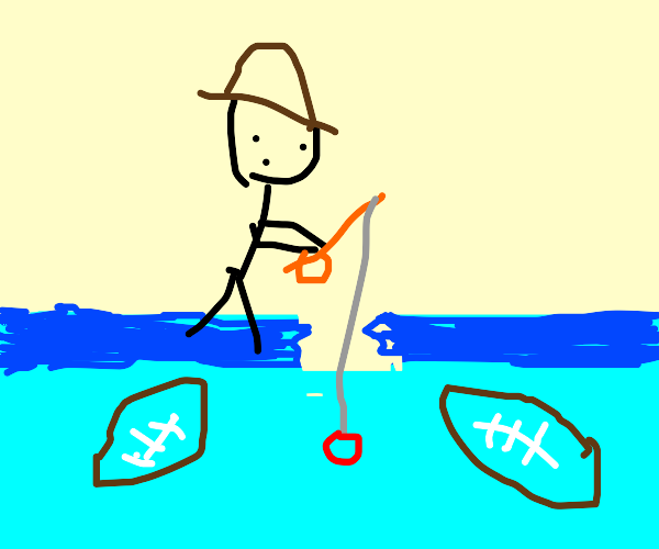 Fishing for a Football