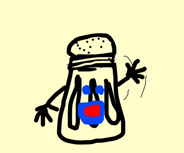 Either a salt or pepper shaker waving