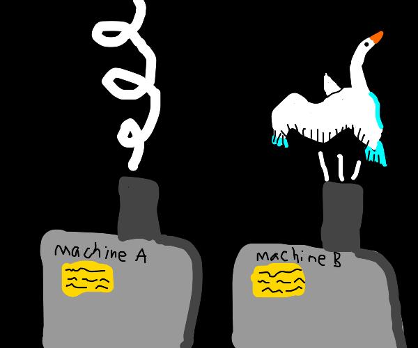 Machine b makin swans
