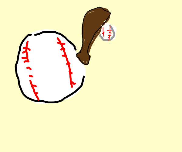 Baseball bat hitting Baseball