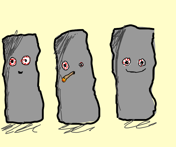3 high rocks