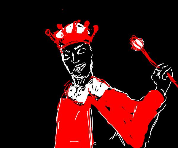 king of sneers w/ crown scepter