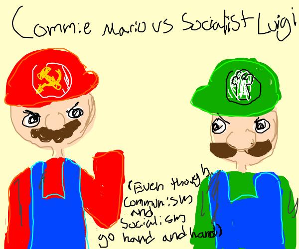 Commie Mario Fights Socialist Luigi