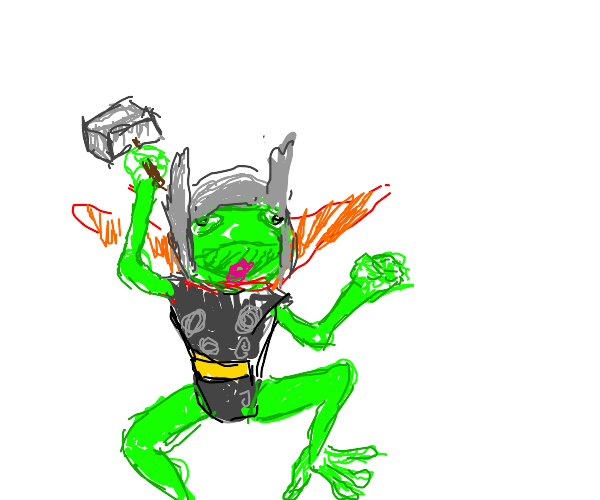 marvel's thor, but is a frog
