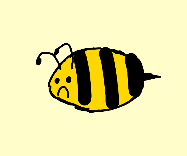 Bee with no legs