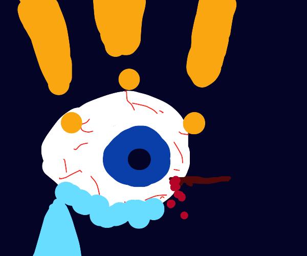 oh jes-.. uh.. E-Eye S-Splinter!