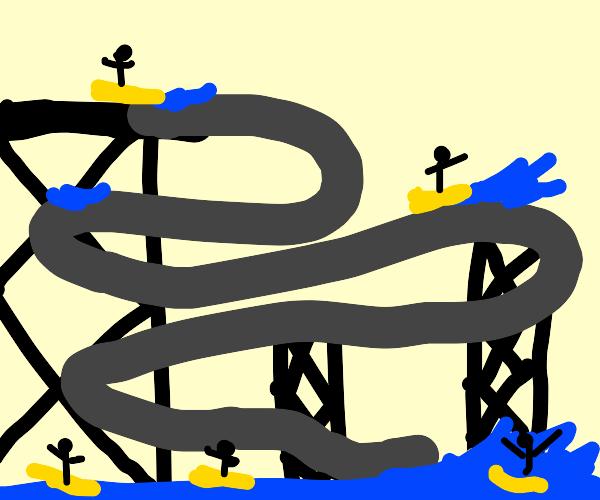 biiig water slide