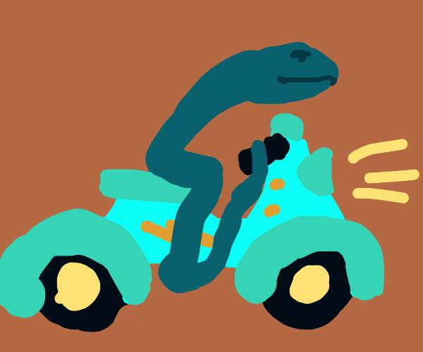 snake on a bikeeee