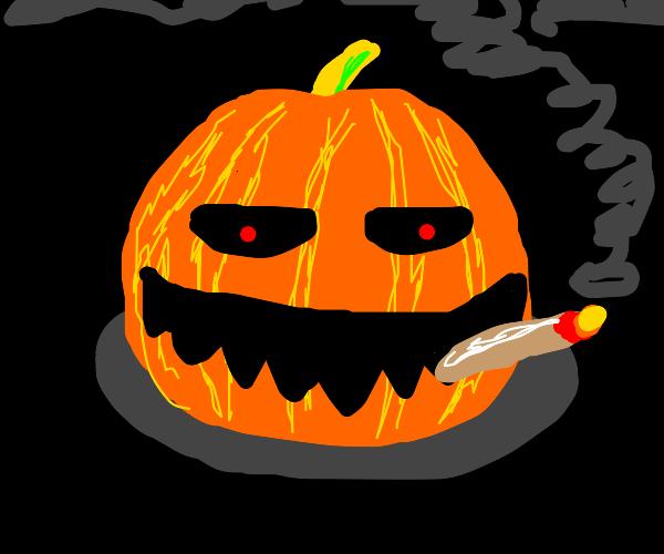 Pumpkin Smoking Weed