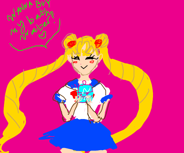Sailor Moon but Belle Delphine is in there