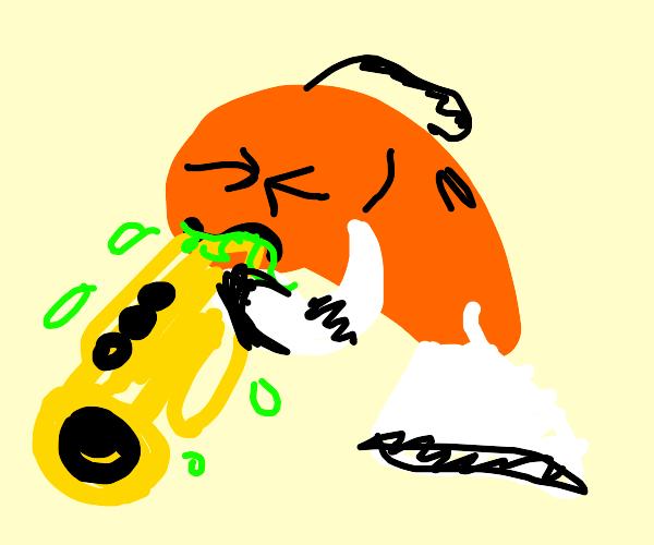 clownfish barfs up tuba