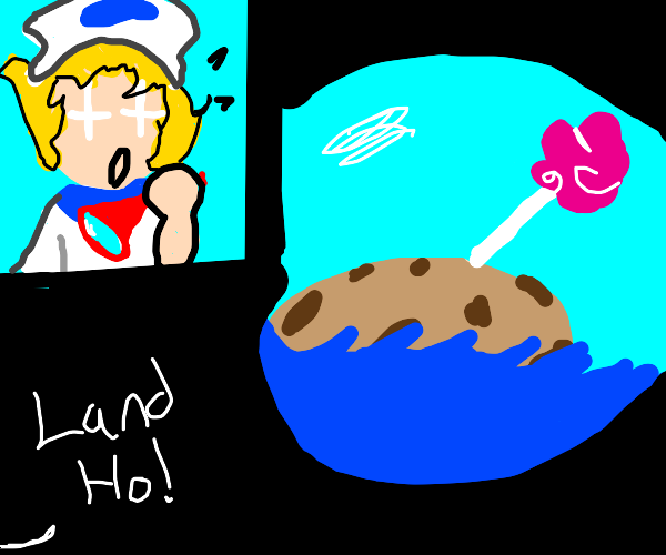 sailor spots a island the size of a cookie