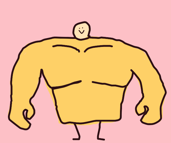Man with a big torso and small head