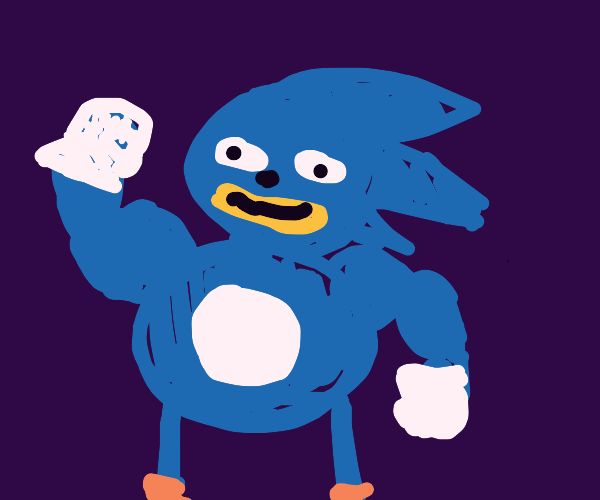 Buff, tall Sonic