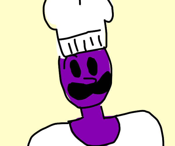 A moustached chef