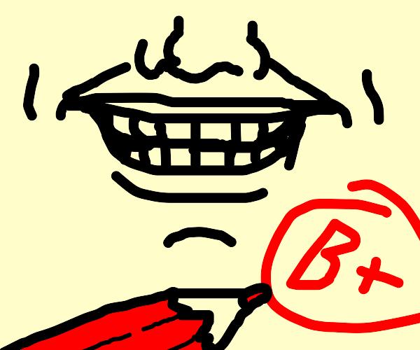 B plus smile