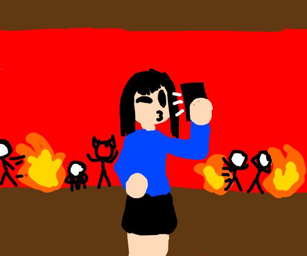 Influencer enjoying Hell