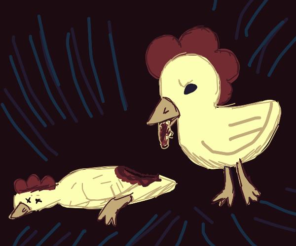 Cannibal chicken